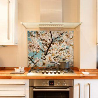 Blossom kitchen splashback