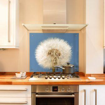 Dandelion kitchen splashback