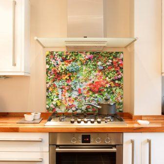Field Flowers kitchen splashback