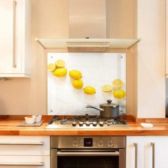 Lemons kitchen splashback