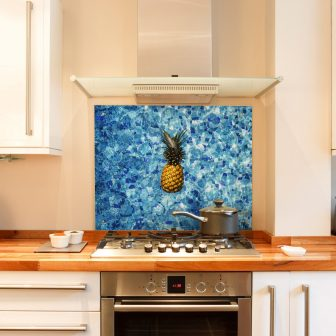 Pineapple pool kitchen splashback