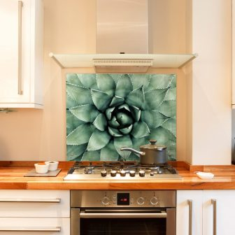 Succulent kitchen splashback