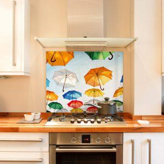 Umbrellas kitchen splashback