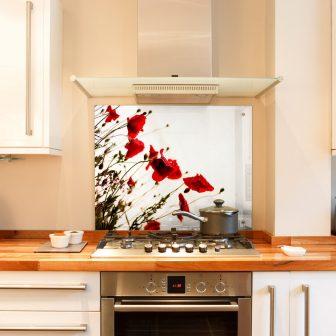 Poppies kitchen splashback