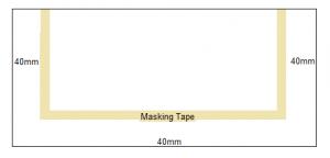 Koi Pond Window Masking Tape