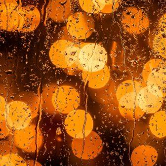 Amber Lights Glass Splashback