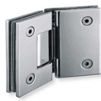 Glass to glass door hinge