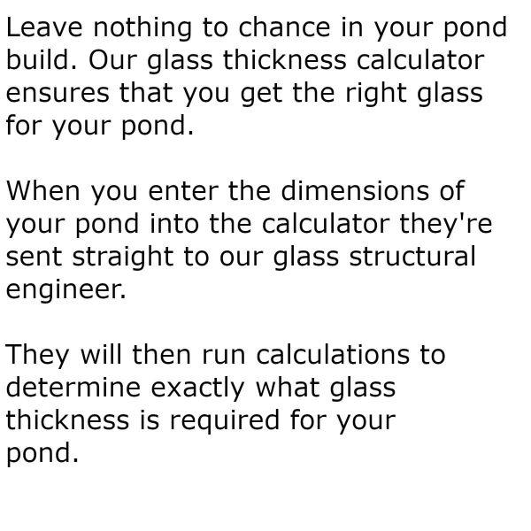 Pond glass thickness calculator